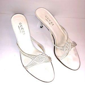 Gucci White Heels